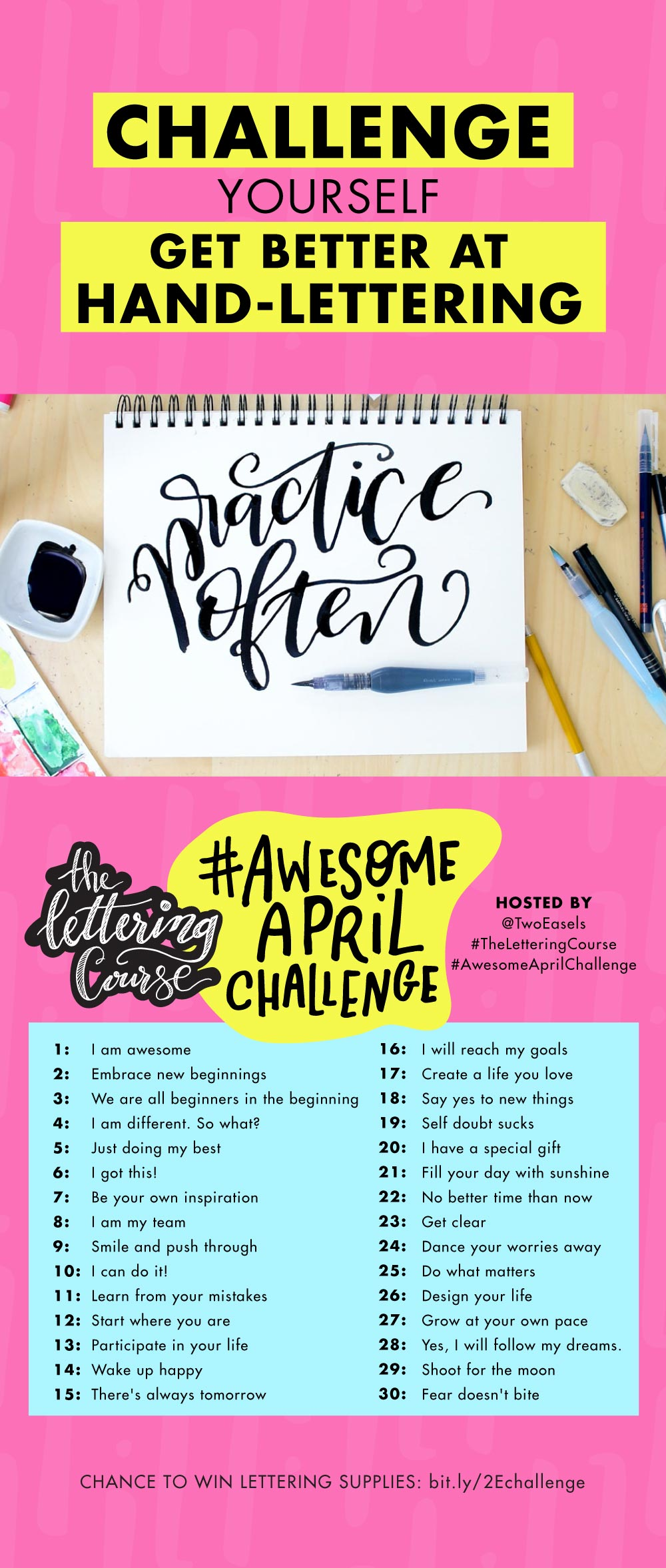Join the fun on Instagram in this monthly challenge, this month it's #AwesomeAprilChallenge is about YOU being AWESOME!