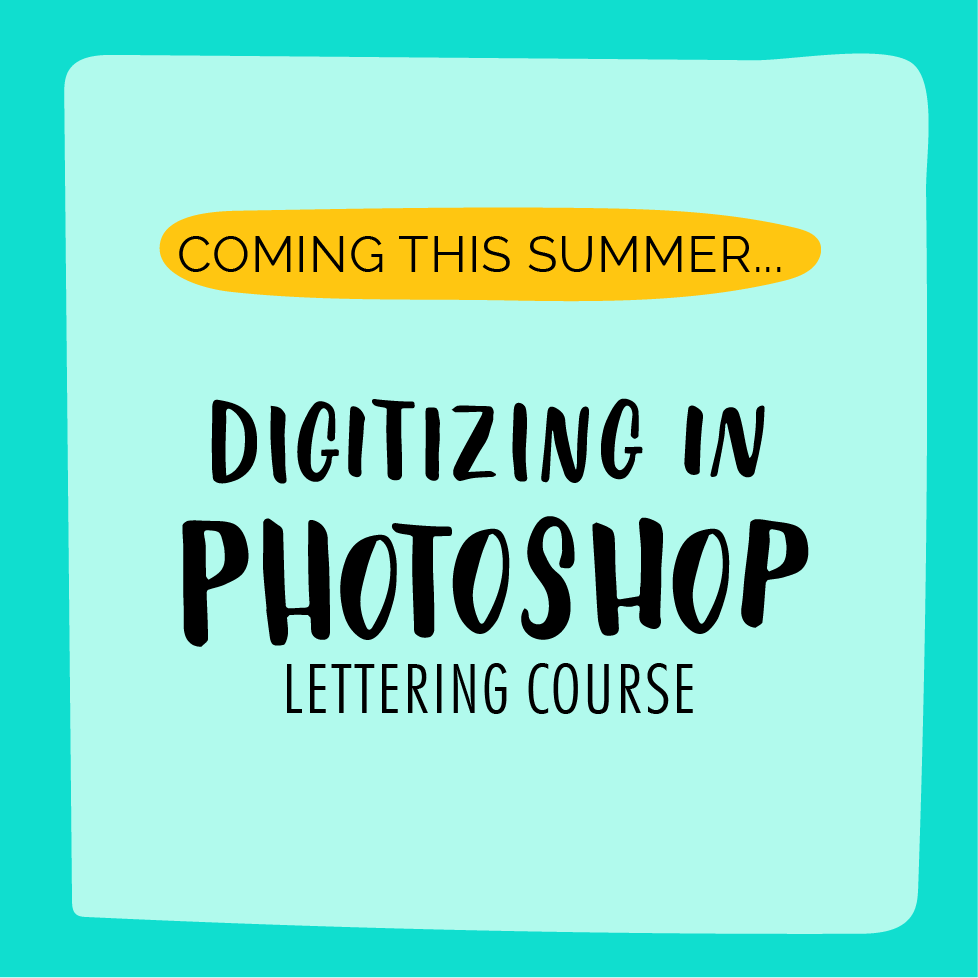 Learn how to digitize you lettering and take your hobby to a new level. Want to sell prints or shirts, you need to learn Photoshop and Illustrator, now. So don't wait, enroll now!