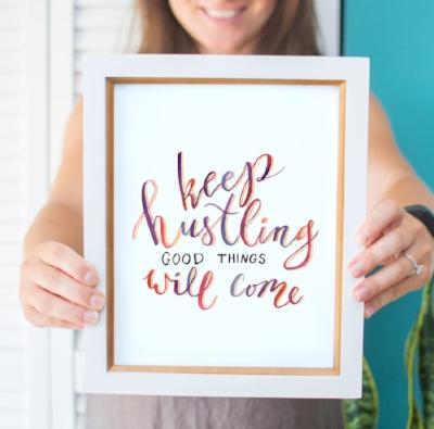 lettering print art