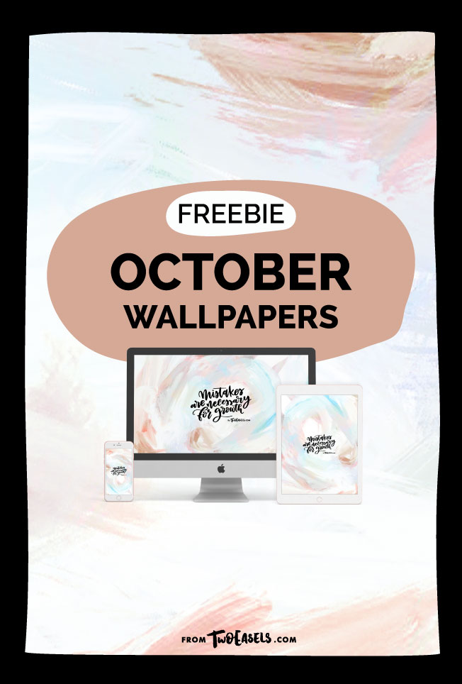 Free October wallpaper by @TwoEasels Veronica Zubek Freebie desktop iphone and ipad wallpapers