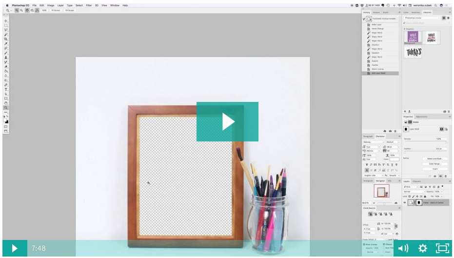 Learn how to mockup your lettering inside a frame