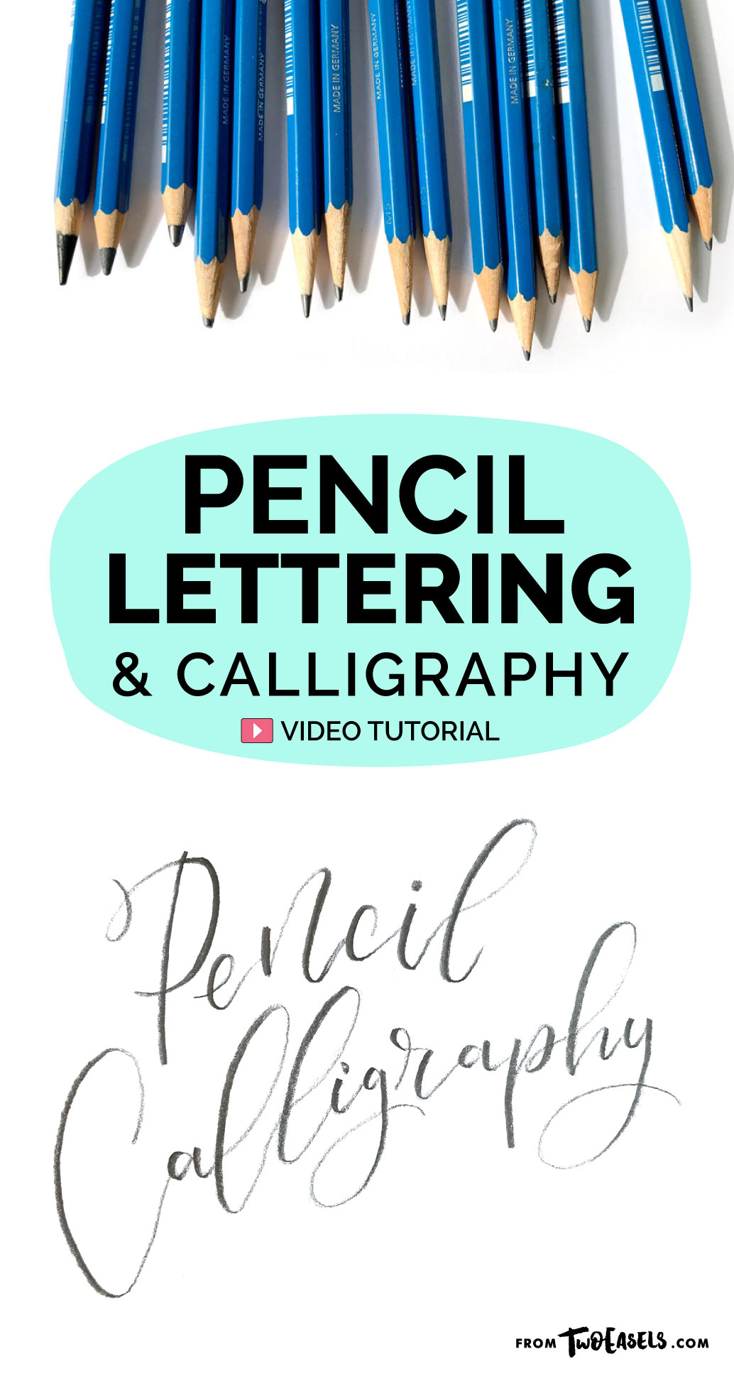 Yes, it's possible to do modern calligraphy with just a pencil, and it still looks amazing. Try it, or just use your pencil to sketch out your ideas. Etiher way, pencils and lettering go hand in hand.