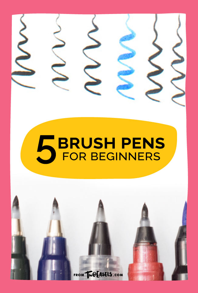 5 brush pens for beginners