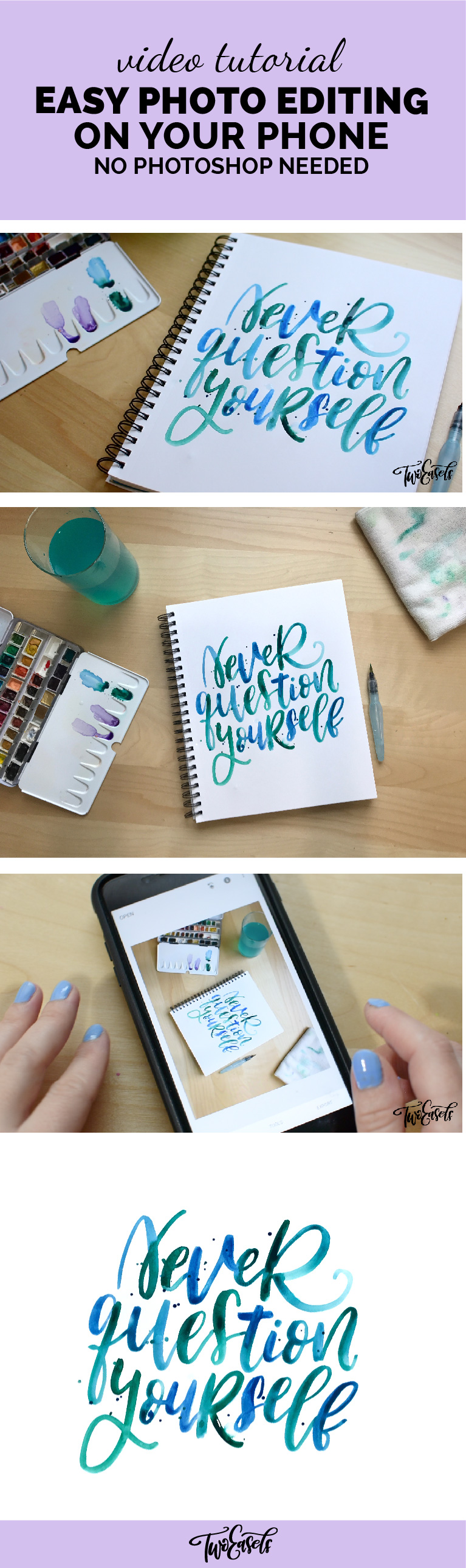 Learn how edit photos on your phone or iPad, no Photoshop needed. Perfect for those Instagram posts. Get rid of background. Lettering, art, or other crafts.