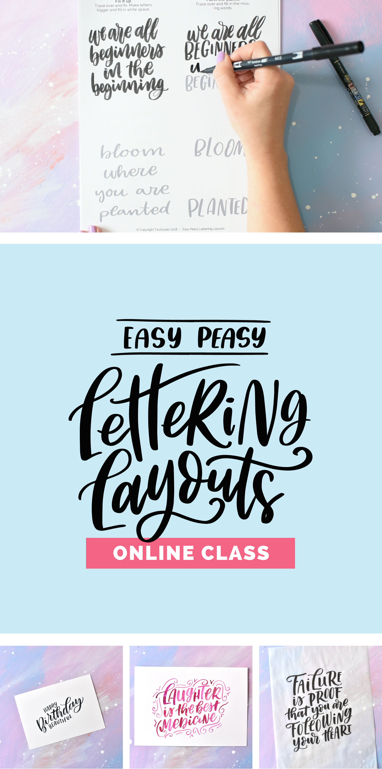 If you've been learning hand lettering, doing drills, tracing all those pretty letters and you feel like you are ready to graduate to the next level? You need to learn how to make them look pretty!