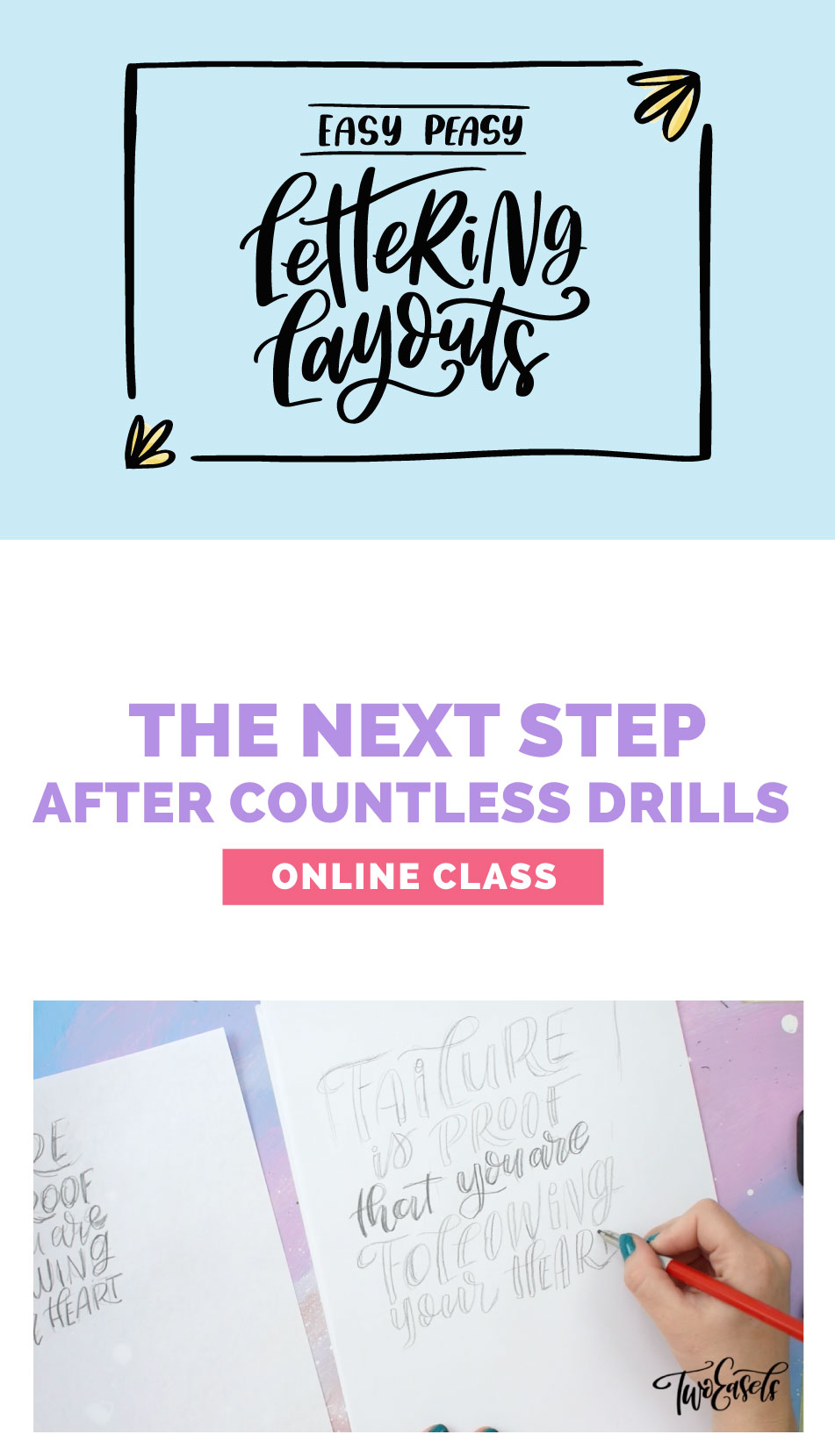 Having trouble with your creative layouts? Take this easy class and learn about lettering layouts and design.