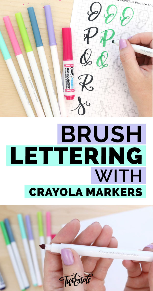 Learn how to do brush lettering with Crayola marker