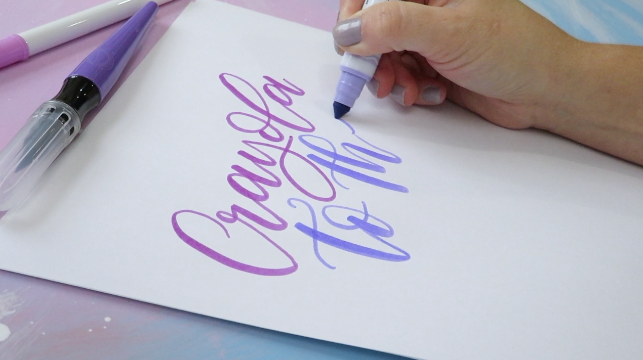 brush lettering with crayola markers twoeasels