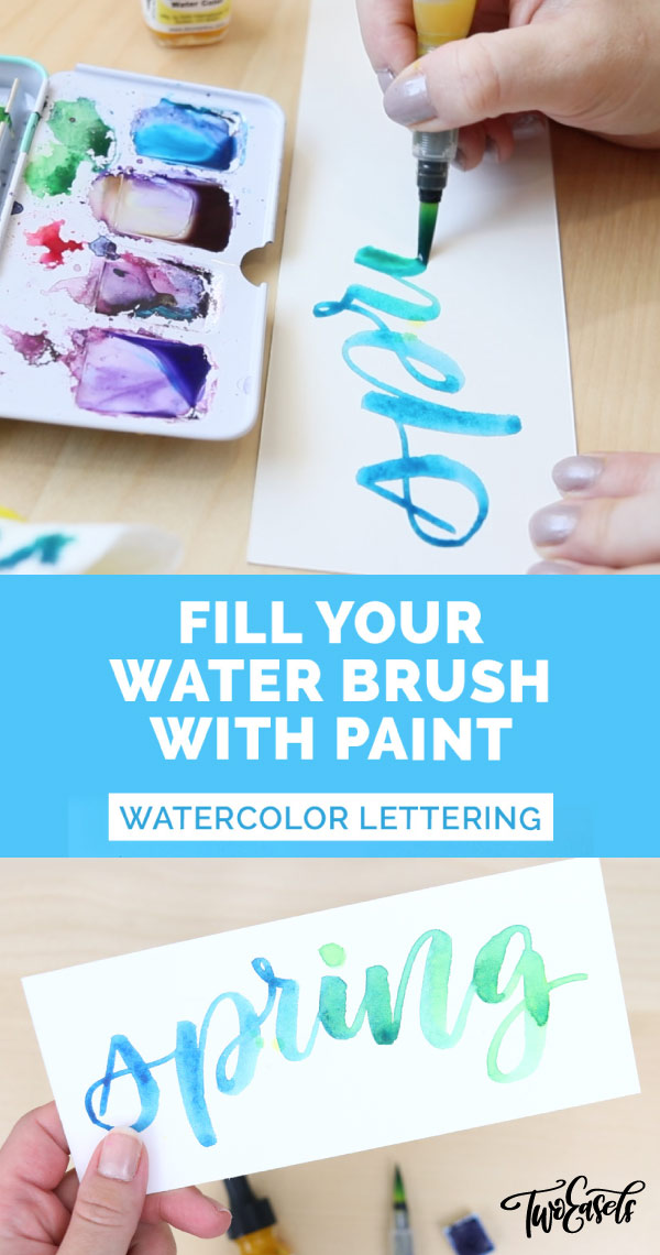 The coolest thing you can do with a waterbrush. Watch these colors mix and mingle in this easy watercolor brush lettering tutorial
