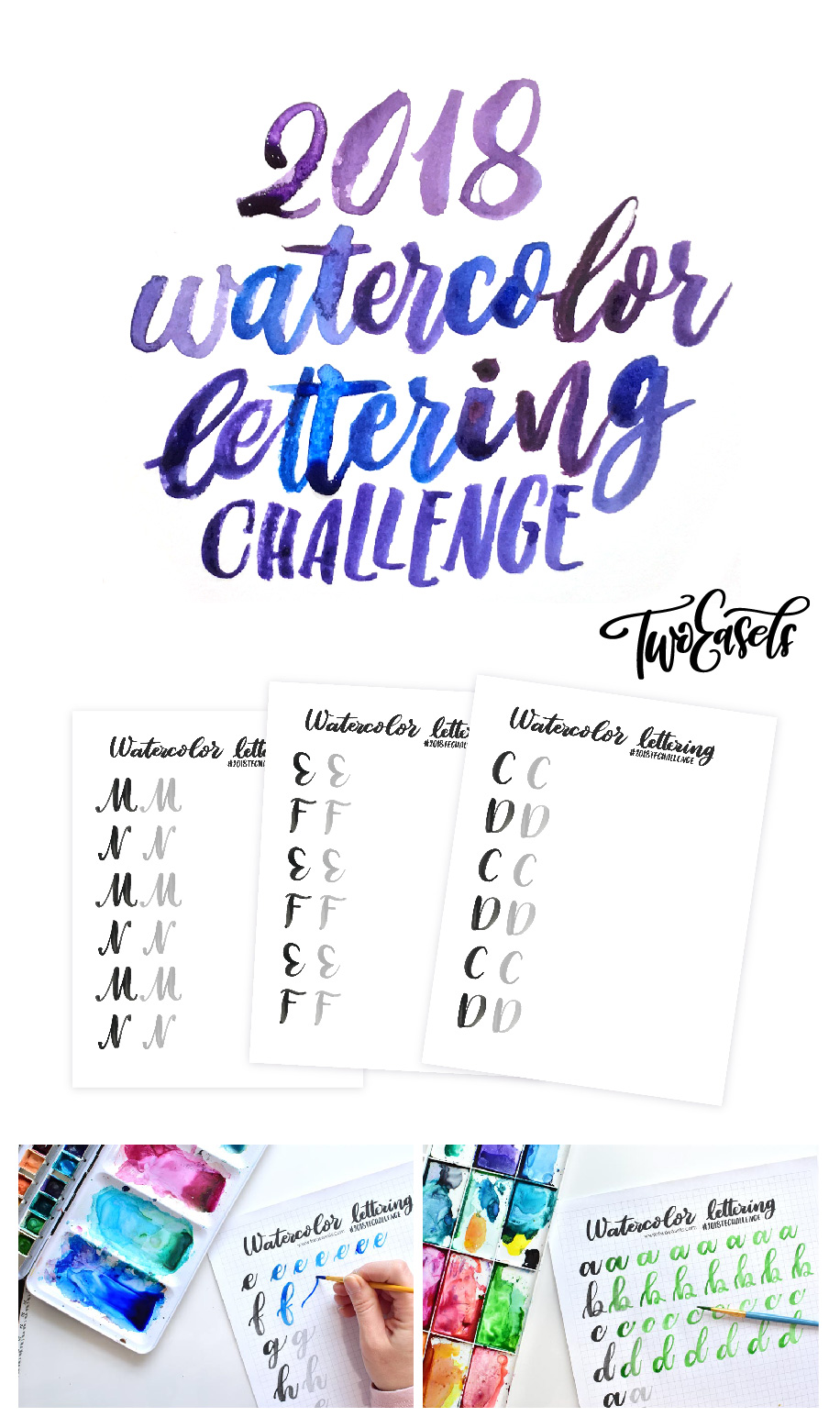Learn everything from beginner lettering to florals and so much more. In this year long challenge/course.