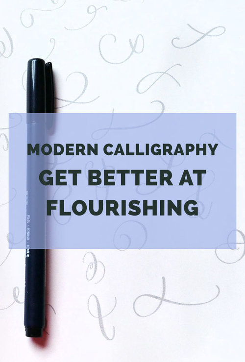 modern calligraphy get better at flourishing learn how