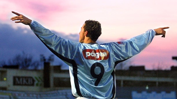 Zlatan Ibrahimović, one of  the world's best footballers at the start of his career with Malmö FF. Photo: TT