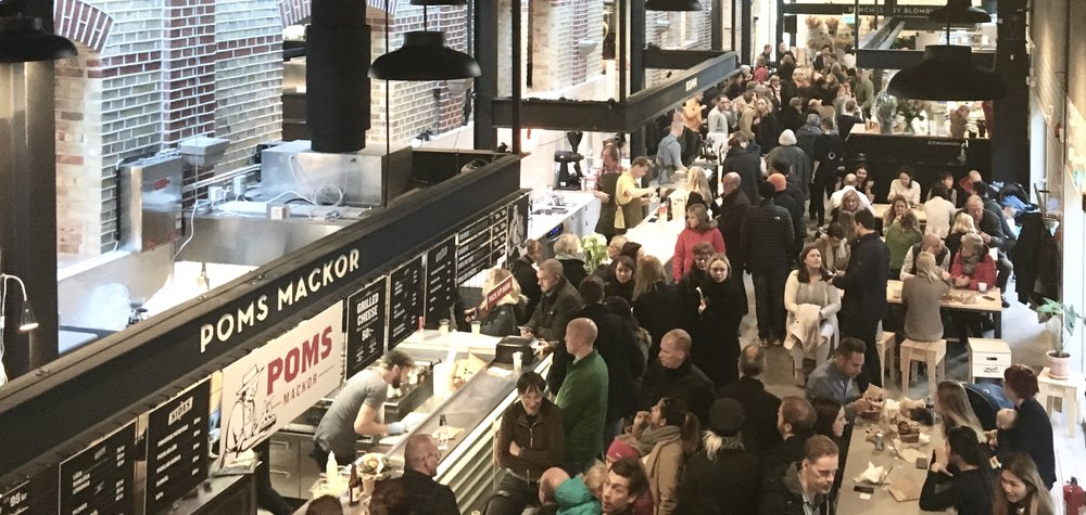 Malmö Saluhall (food market) opened in November 2016. Photo: Maria Busck, www.mariabusck.com.