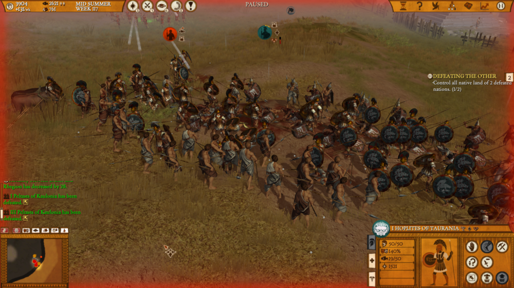 While they don't always look visually astounding, battles in Hegemony III can often be very harrowing experiences.