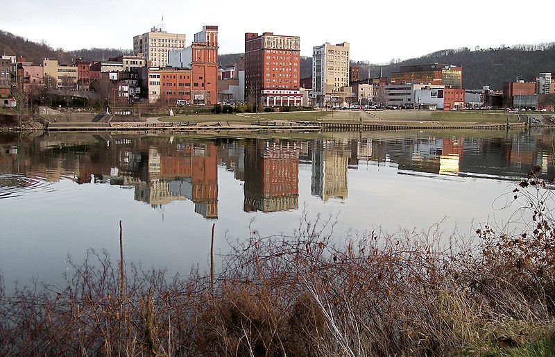 A view of Downtown Wheeling from Wheeling Island. (Wikipedia photo)