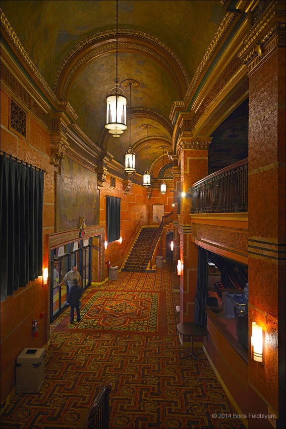 The foyer of the Capitol Theatre.