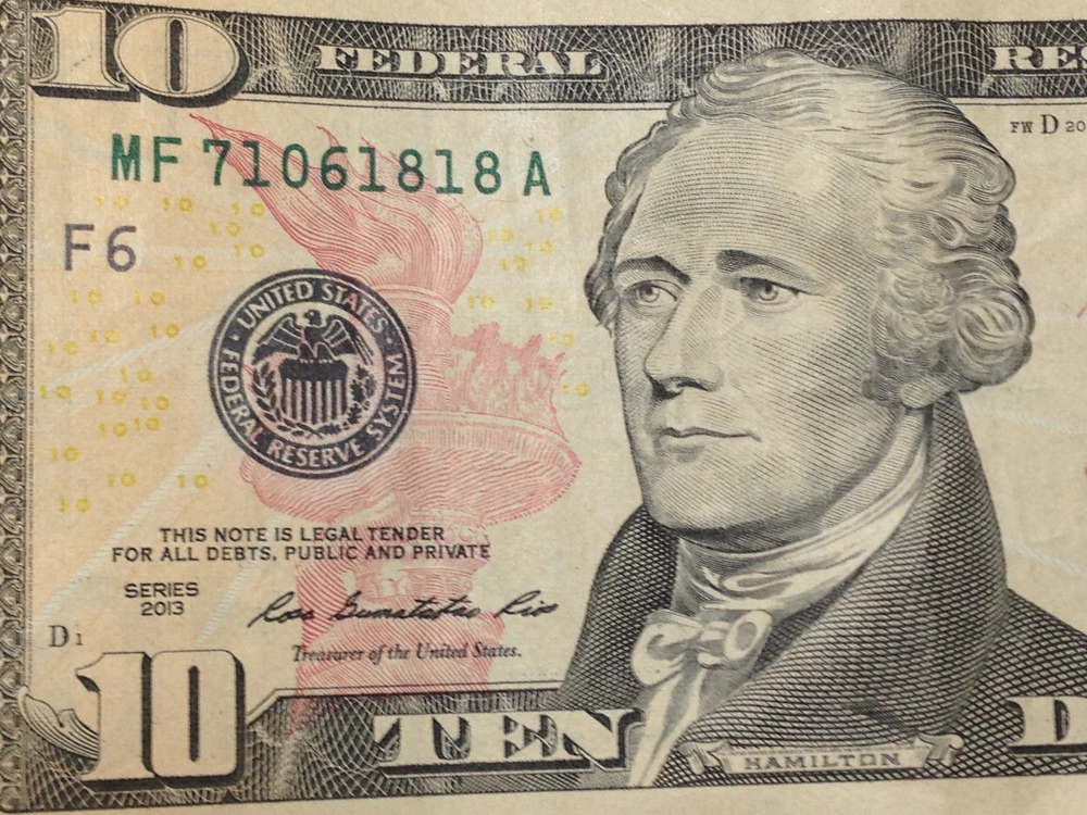 Alexander Hamilton will still be pictured on the redesigned $10 bill, though less prominently.