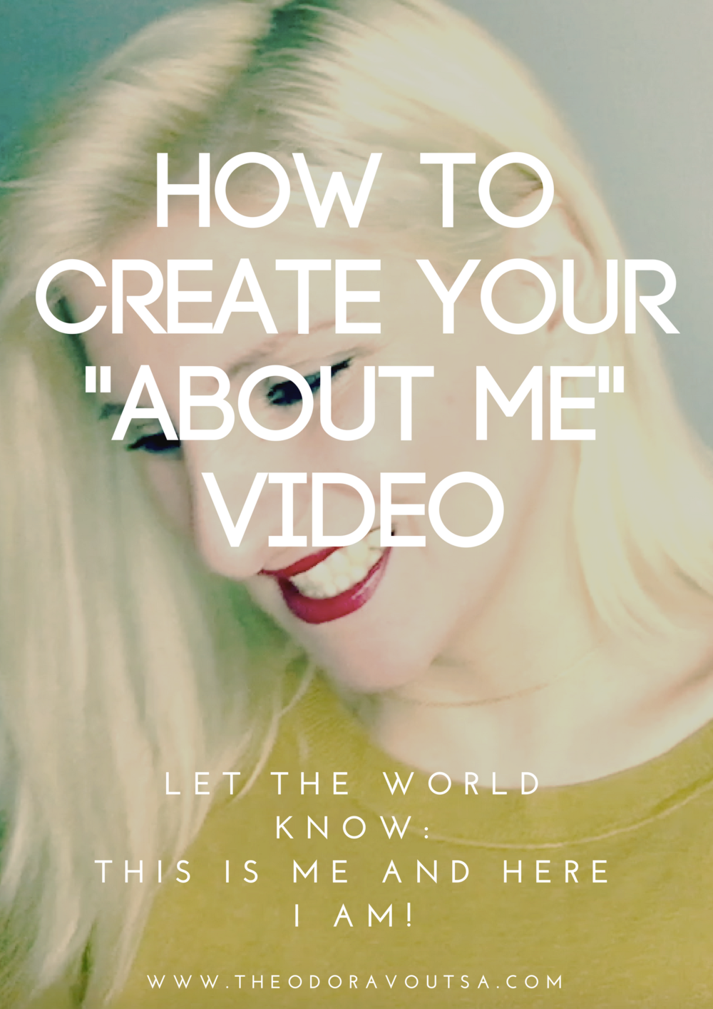 "click here to get the course ""how to create your about me video"""