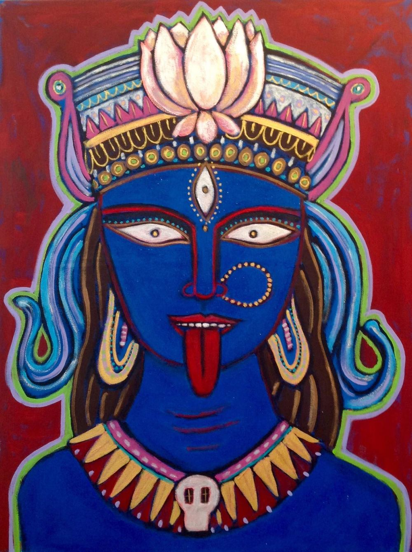 """Kali rising"" 30"" x 40"" acrylic on canvas"