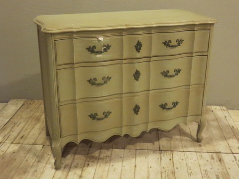 Louis XV Stye Chest Painted Green