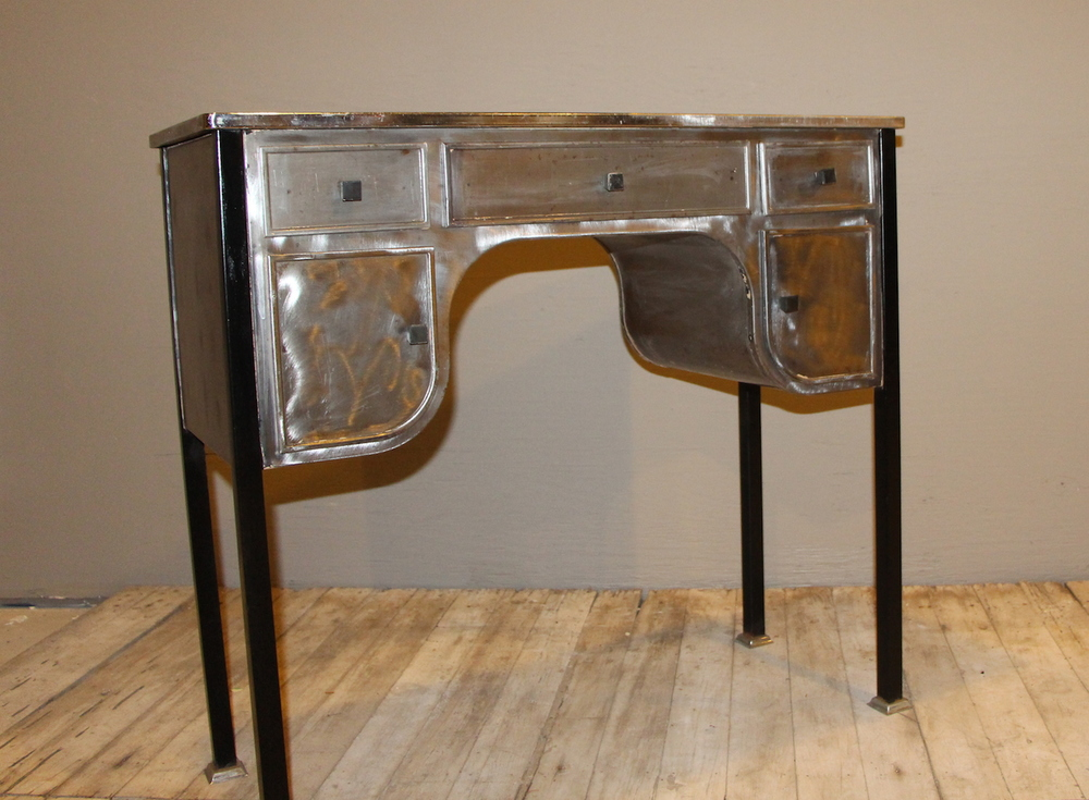 Steel Table with 3 Drawers and 2 Doors