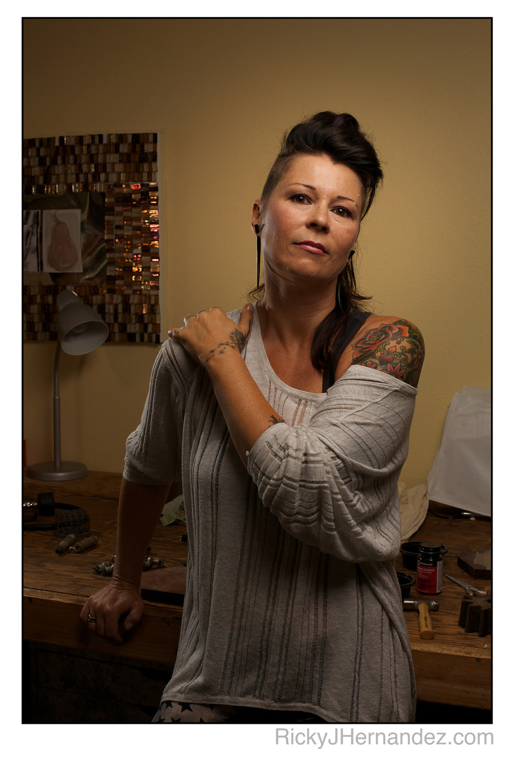 Silke Turner: artist portrait session by Ricky J Hernandez