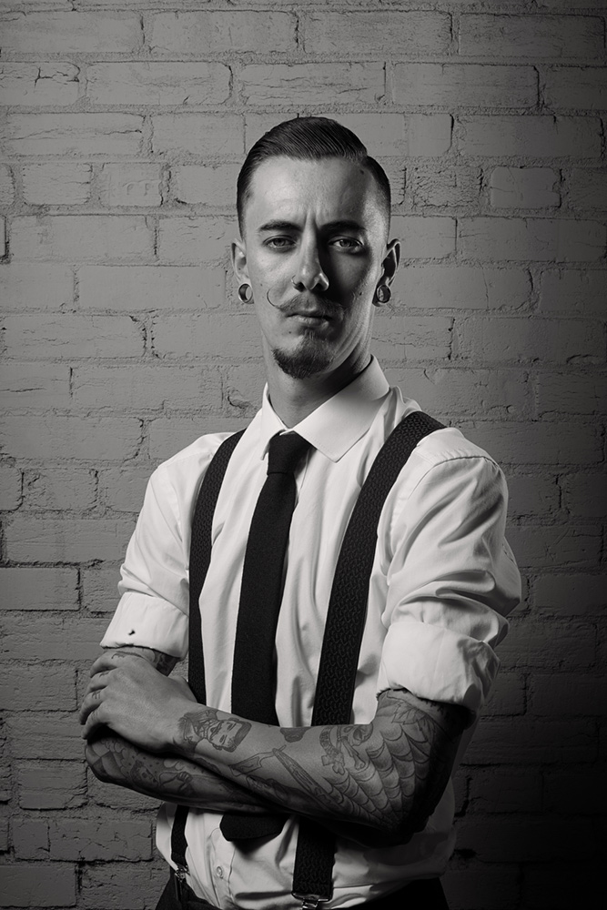 Portrait of Sam Pedder @tattooedrider