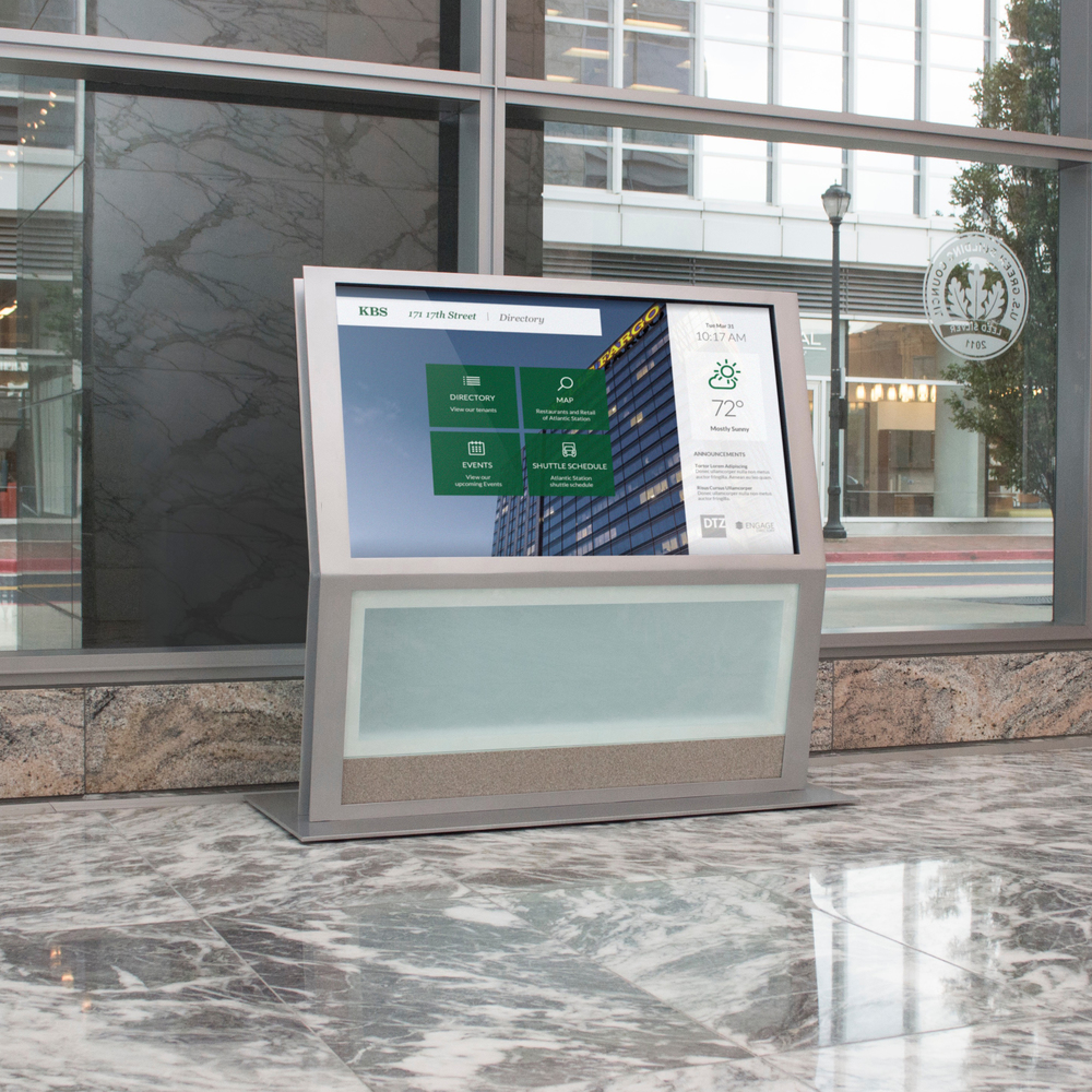 Interactive digital signage displays.