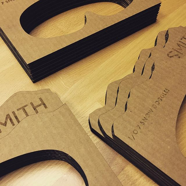 Environmentally responsible packaging prototype for #smithoptics turned out great! #2point5 #laser #fabrication