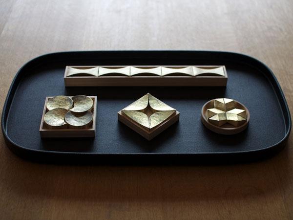 Futagami / Oji Masanori / poggiaposate poggiabacchette sushi giapponese apparecchiare tavola ottone / Spazio Materiae Napoli