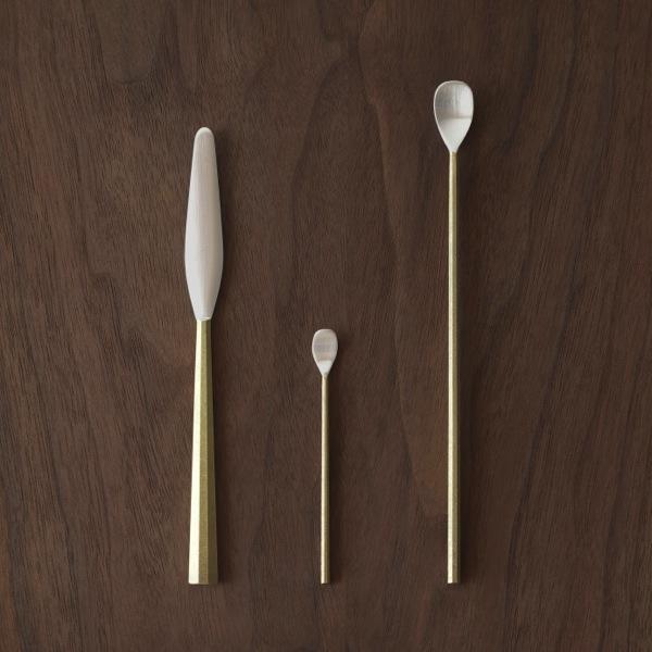 Futagami / Oji Masanori / coltello da burro, cucchiaino marmellata o cocktail / posate addizionali / Spazio Materiae Napoli
