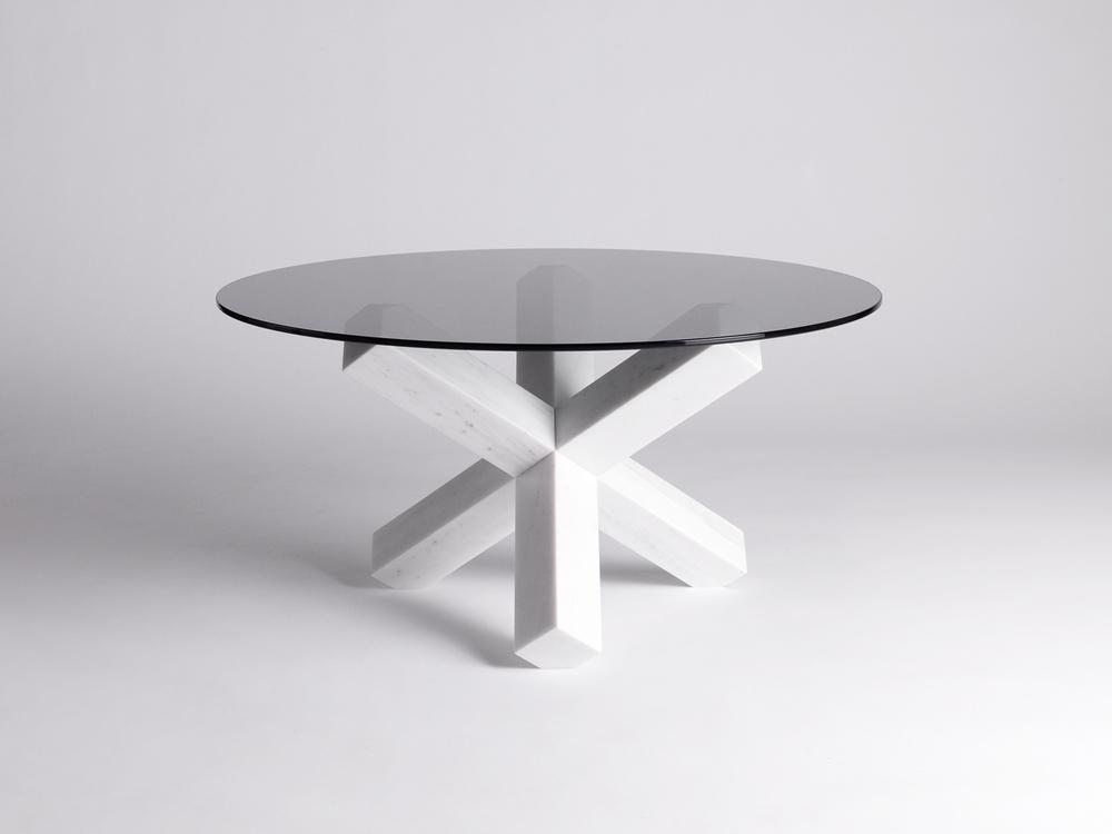 Hook Me Up Tavolo | Marmo di Carrara e Vetro | Minimal Design| Isabell Gatzen | Spazio Materiae | Napoli
