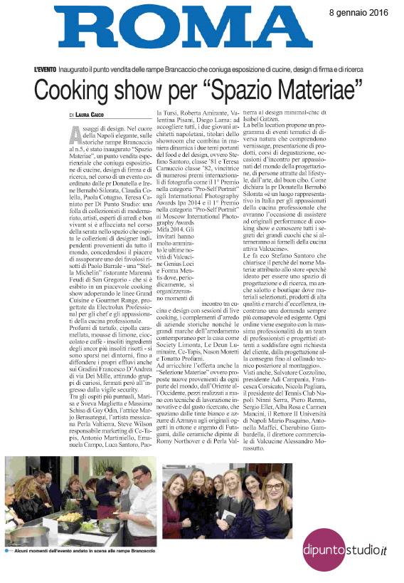 Il Roma - Laura Caico - Inaugurazione Spazio Materiae showroom design cucine food Napoli Chiaia