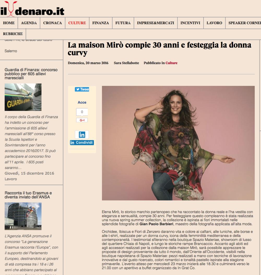 Il Denaro - Fashion cocktail Elena Mirò da Spazio Materiae