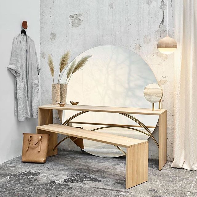 Goodmorning Grace 🕊⠀ -⠀ Grace is @Materdesign elegant mirrored vanity furniture designed by the Danish architect Eva Harlou (@evaharlou). Named after Grace Kelly, 'Grace' is a modern interpretation of the classic dressing table or the French 'poudreuse', and draws attention to Hollywood films of the 1920s and '30s that often depicted the femme fatale sitting at her elegant vanity table in the bedroom or dressing room. Harlou's modern interpretation further allows the table to slide aside and turn into a wardrobe as the vanity mirror reveals. 'Grace' is beautifully crafted in premium materials of FSC certified oak wood and brass metal detailing. ⠀⠀⠀⠀⠀⠀⠀⠀⠀ #spaziomateriae #materdesign #evaharlou #vanityfurniture #interior #design #craftsmanship #ethicalliving