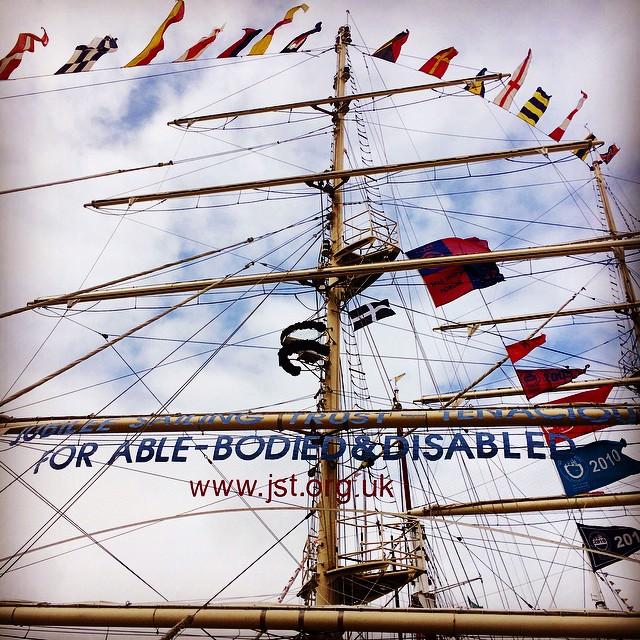 #vscocam #tallships #sailing #falmouth #mast #flags