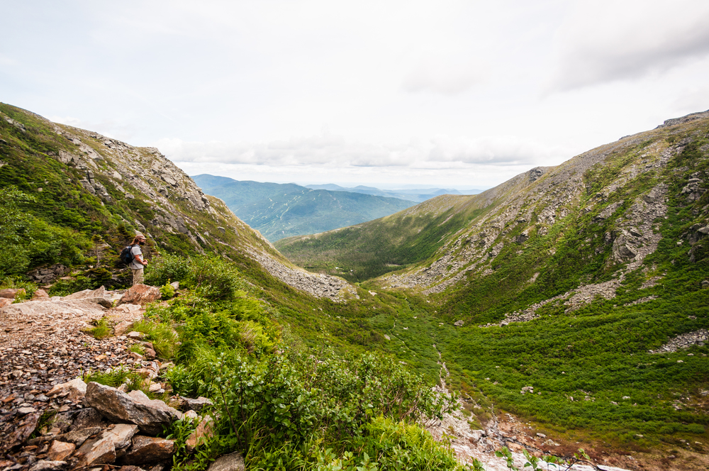 Looking out from along Tuckerman's Ravine trail. (Click to enlarge image)