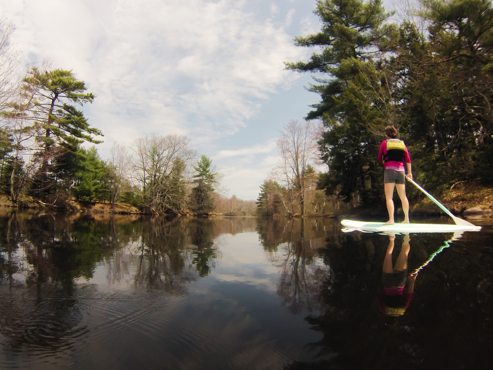 SUP'ing in Maine. GoPro captured me in action. Thanks to Jared Palmer for attaching it to his board.