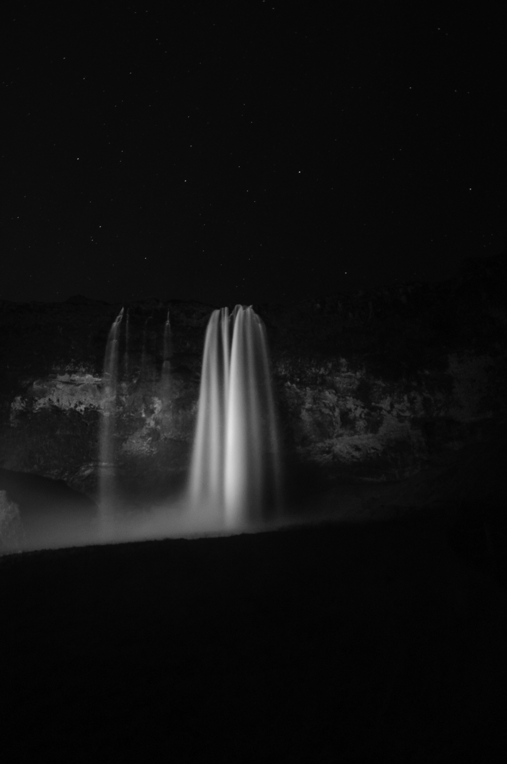 Seljalandsfoss at night, Iceland October 2015