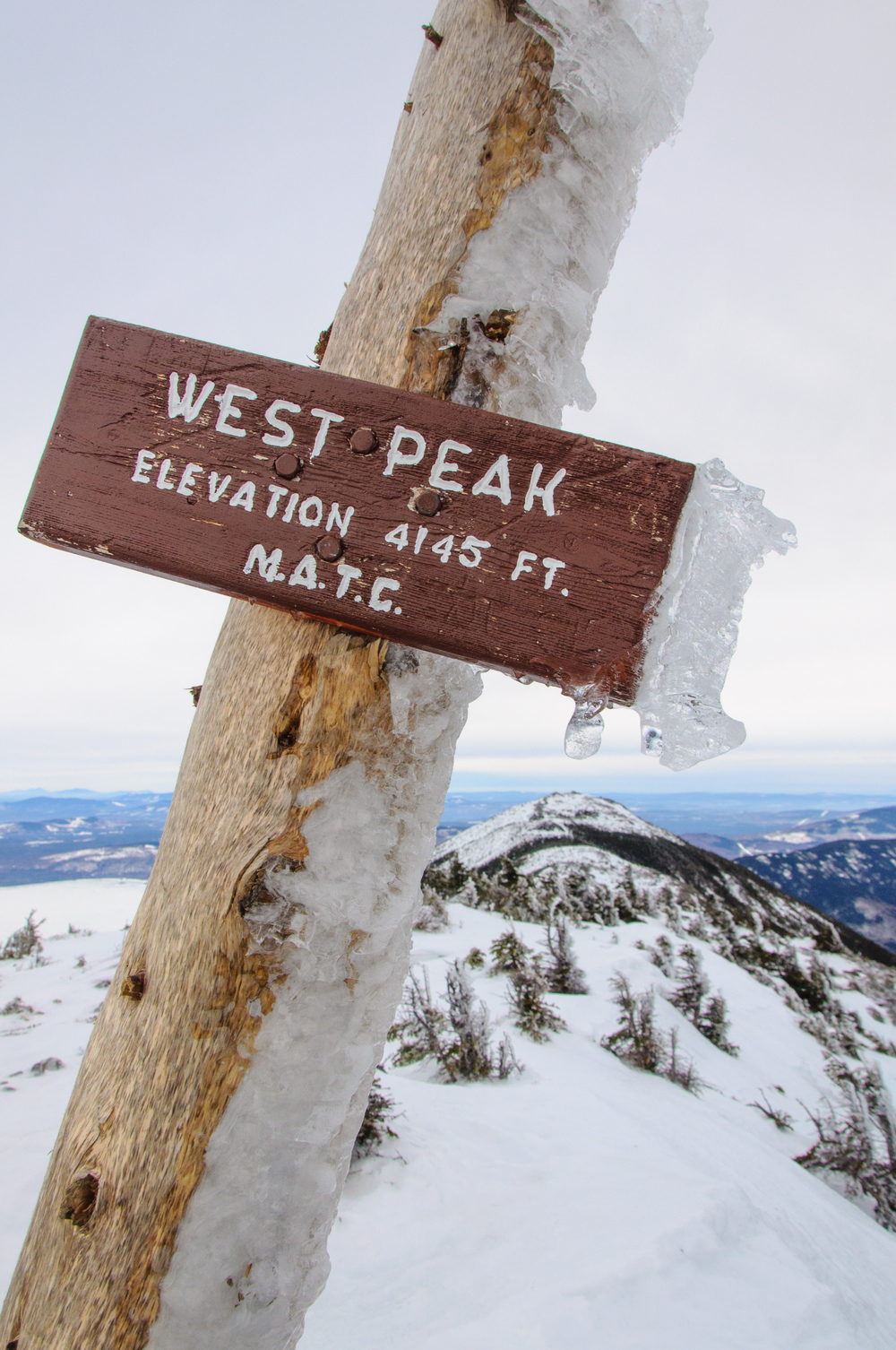 West Peak, Bigelow Mountains, Maine, USA January 2015