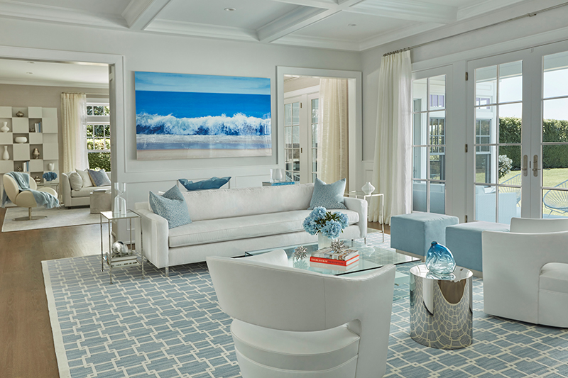 Hamptons NY Interior Design   Living Room By Melanie Roy Design   Beach Home