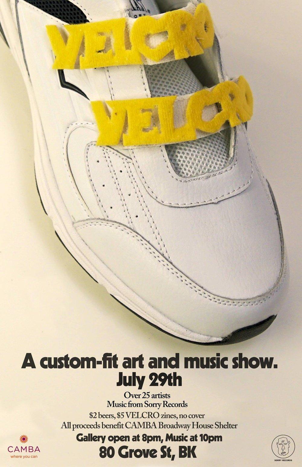 Velcro Art Show Poster (Michael Glody)