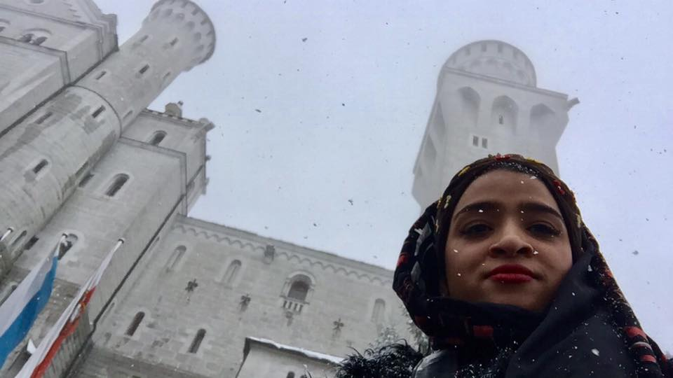 Throughout the week, the weather was pretty bipolar. It was sunny and cloudy, it rained and it snowed. This ones up in the mountains,where it snows. You can call me Frozen #SchlossNeuschwansteinCastle