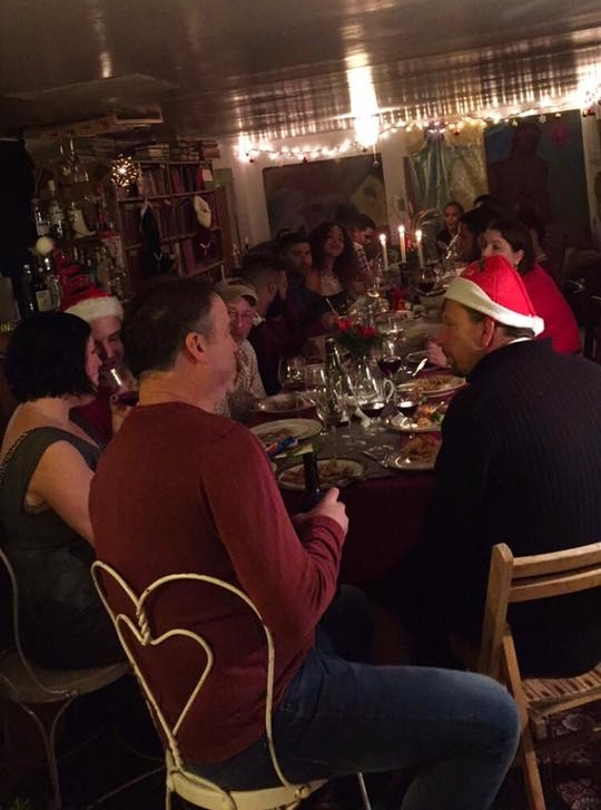 but soon enough, family and friends arrived and filled the room with cheer and laughter.
