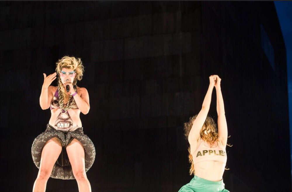 Performing for Peaches at Impulstanz 2016