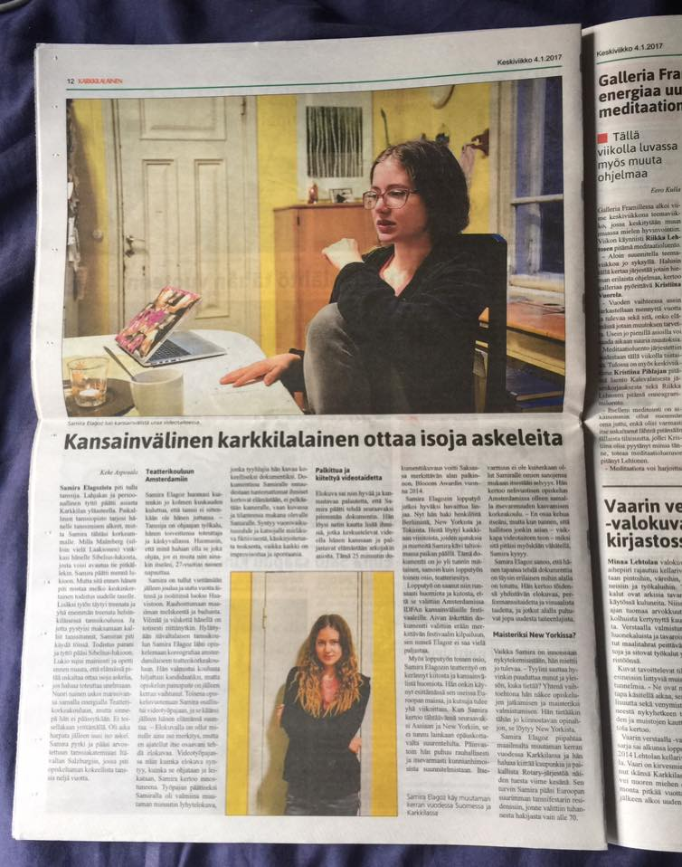 "Interview in the Finnish magazine ""Karkkilalainen"""