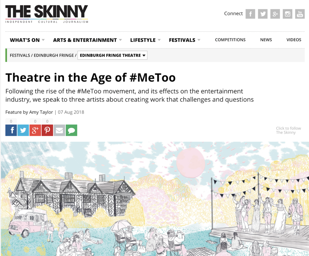"T    HE SKINNY     Interview: "" Theatre in the Age of #MeToo"""