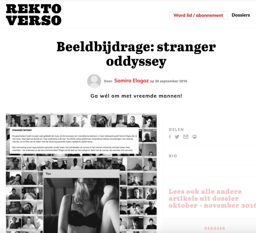 REKTO VERSO     Publication:  Stranger Odyssey