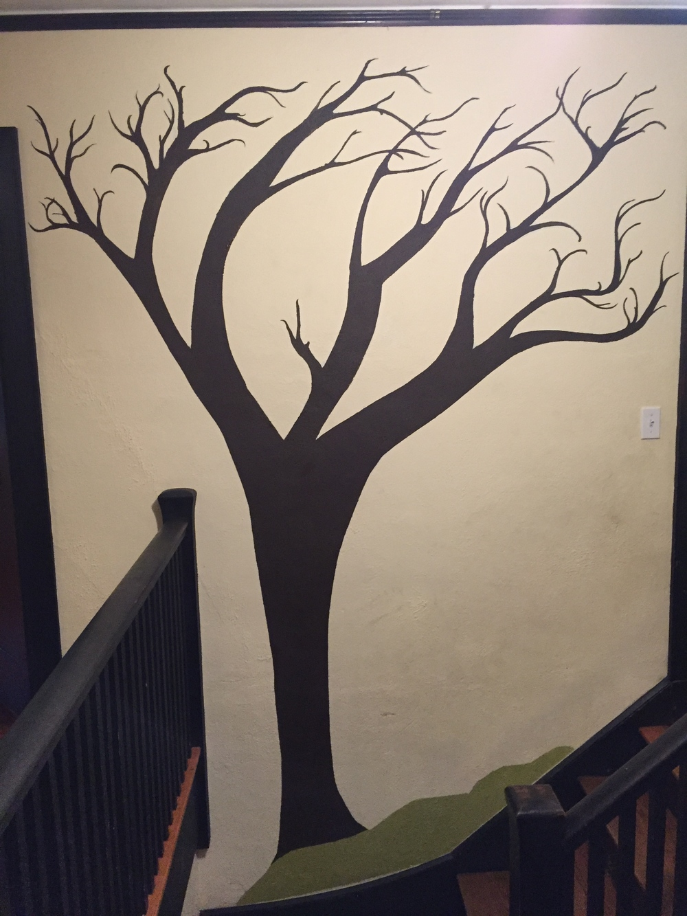 Stairway Tree Leafless -- Latex and Acrylic -- 2015 Private Residence