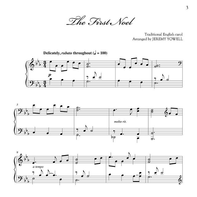 "New Christmas arrangement of ""The First Noel."" #christmas #sheetmusic #piano #noel #thefirstnoel"